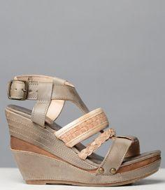 Bed Stu Jaslyn Wedge Sandal in Taupe Sand