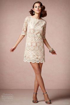 bhldn spring 2013 agata swing short lace wedding dress sleeves va et vien