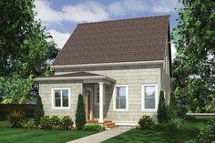 Cottage Style House Plan - 3 Beds 2.5 Baths 1915 Sq/Ft Plan #48-572 Exterior - Rear Elevation - Houseplans.com