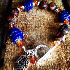 I Am Protected Lapis Lazuli Three Eyed Tibetan Agate