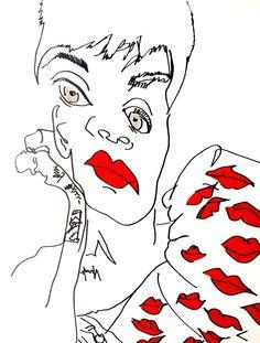 belle BRUT: Drawing again… a little #Rihanna for #Vogue love!!! © belle BRUT 2014
