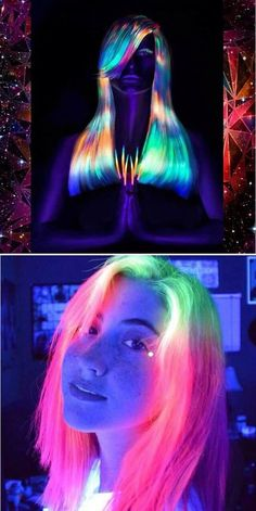 Glow in the Dark Rainbow Hair @sarah