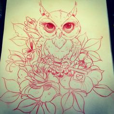 obsessedddd   ive been looking for an owl I love , a few changes & this will be my next tattoo♡