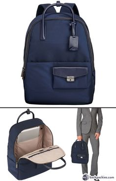 Tumi Larkin Portola business backpack for women - We rated the best women's backpacks for work. Come see which other backpacks made the list!