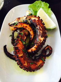 Grilled Octopus Cyprus Healthy Cooking, Cooking Recipes, Cyprus Food, Octopus Recipes, Heritage Recipe, Grilled Octopus, Main Course Dishes, Greek Restaurants, Fire Cooking