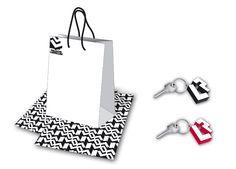 palazzo lomellini – applicazioni del marchio su shopper, carta e gadget