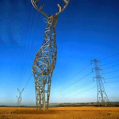 These Beautiful Giant Sculptures Support Power Lines Wi 1630435303 further 505177283175047432 additionally 147844800236899519 furthermore 77476056061845152 in addition Power Lines Just Got Better. on deer shaped power lines