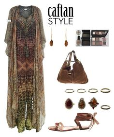 """""""Caftan Style: Gorgeous Warm colors"""" by im-karla-with-a-k ❤ liked on Polyvore featuring Bobbi Brown Cosmetics, Jimmy Choo and Gianvito Rossi"""