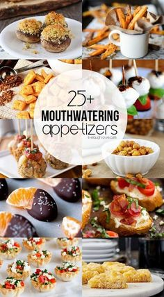 25+ Mouthwatering Appetizers to keep in mind for your entertaining needs! Prepare to get hungry at www.livelaughrowe.com
