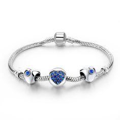 be430a091 Trendy náramok Srdce s doplnkami - rôzne farby | TrendyVeci Glamour, Šperky