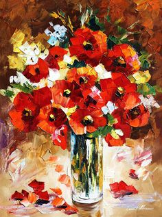 Flame by Leonid Afremov- my favorite painter of all time.