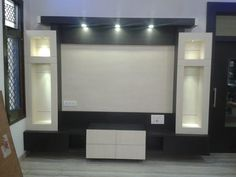 Lcd wall units family rooms that exploit the cornor space open up whatever is lot of the space for more versatile settlement, Lcd Wall Design, Lcd Unit Design, Ceiling Design, Door Design, Tv Showcase Design, Tv Unit Furniture Design, Pooja Room Design, Mandir Design, Lcd Units