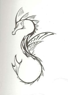Tribal seahorse tattoo designs pinterest tattoo for Sea dragon tattoo
