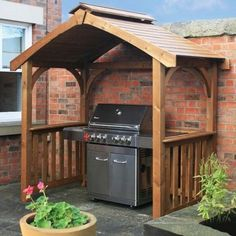 Traditional Wooden Gazebo Pergola Garden Patio Pavillion Bbq Grilling Outdoors