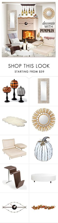 """My Hallowanksgiving Decor"" by fassionista ❤ liked on Polyvore featuring interior, interiors, interior design, home, home decor, interior decorating, Grandin Road, Surya, UGG Australia and NOVICA"