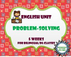 Problem-Solving Unit Bundle - Includes 5 weeks of plans complete with read-aloud plans, writing assessments, and speaking and listening activities.