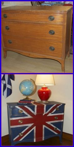 Old and drab to Union Jack dresser