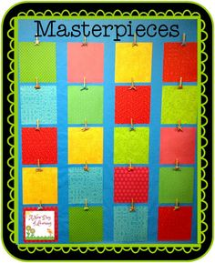 Create an easy and beautiful display for student work by using inexpensive supplies! Great blog post with instructions!