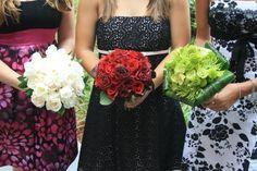 www.flowerhillflowers.com #fhflowers  #bridalbqts #whiteredgreenbridalbqts
