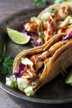 Easy Jamaican jerk chicken tacos, bursting with flavor and on the table in 20 minutes! These are perfect for busy weeknights!