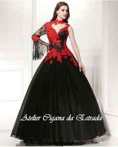 437d36ae0b Vestido Pombagira do Cabaré com corselet preto e vermelho luxo #pombagira  #pomba #gira #maria #padilha #mulambo #exu #mulher #rainha #7  #encruzilhadas ...