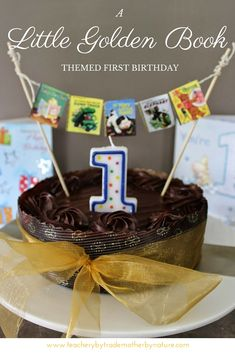 Teacher by trade, Mother by nature - Kids Parties: A Little Golden Book themed First Birthday