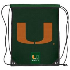 Miami Hurricanes Mesh Big Logo Drawstring Backpack