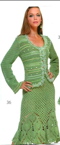 Crochet skirt and jacket…..