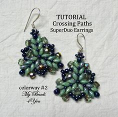 PDF Tutorial Earrings SuperDuo Tutorial Seed Bead by mybeads4you