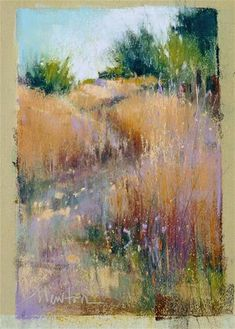 "Daily Paintworks - ""Rainbow Hill"" - Original Fine Art for Sale - © Barbara Benedetti Newton"