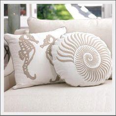 seahorse nautilus pillows