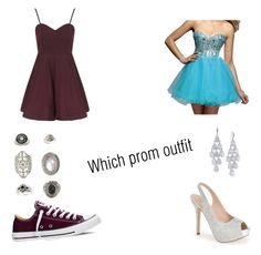 """Which prom..."" by garjcr ❤ liked on Polyvore featuring Topshop, Converse, Clarisse, Lauren Lorraine, Carolee, women's clothing, women's fashion, women, female and woman"