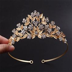 Cheap hairband holders, Buy Quality flower ribbons directly from China flower girl dress silk Suppliers: 2016 New Arrival Noble Rhinestone Bridal Tiara Crown Gold Flower barrettes hairband for Girls Birthday Hair Jewelry accessories Vintage Headpiece, Headpiece Jewelry, Hair Jewelry, Cute Jewelry, Jewelry Sets, Jewelry Accessories, Crown Aesthetic, Barrettes, Accesorios Casual