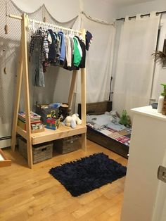 clothing rack, bedroom ideas, diy, how to, woodworking projects
