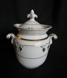 ancien sucrier porcelaine de paris époque louis philippe