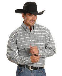 Wrangler George Strait White Plaid Shirt