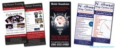 Selection of flyer designs for clients
