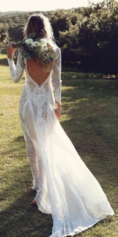 Bohemian Lace Wedding Dresses from Grace Loves Lace | Deer Pearl Flowers / http://www.deerpearlflowers.com/bohemian-lace-wedding-dresses-from-grace-loves-lace/