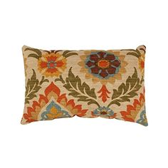 Our damask floral-printed pillow brings the beauty and grace of the garden into your home. Set against a beige background, a brown, green and orange floral damask print bursts off of this rectangular throw pillow. Buy Pillows, Toss Pillows, Accent Pillows, Decorative Throw Pillows, Lumbar Throw Pillow, Plush Pillow, Perfect Pillow, Santa Maria, Damask