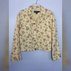 "LOWEST PRICE Ralph Lauren denim jacket Ralph Lauren yellow floral denim jacket size Medium. 20"" shoulder to hem. 22"" underarm to underarm. Ralph Lauren Jackets & Coats Jean Jackets"