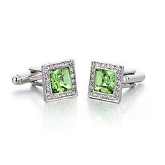 Green Crystal Cufflinks http://astore.amazon.com/ahoy-20/detail/B011GB283I