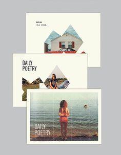 Daily Poetry by Clara Fernández, via Behance  #design #postcard #retro