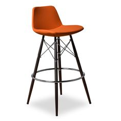 Add a pop of color with these great stools by the kitchen island/bar