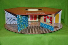 Guilty Pleasures--the Eagle Toys of Canada Panoramic View dollhouse by K. Deaun, via Flickr