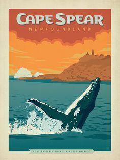 Image result for newfoundland travel poster