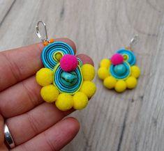 Best Collection of Earrings - Jewelry Daze Soutache Necklace, Tassel Earrings, Dangle Earrings, Diamond Necklaces, Bead Embroidery Jewelry, Beaded Embroidery, Hand Embroidery Flowers, Angel Wing Earrings, Designer Earrings