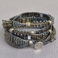 Charcoal Color Study | Free Wrap Bracelet Project | Beadshop.com