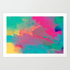 The colors mix Art Print by Msimioni - $20.00