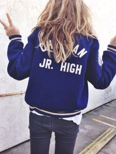 casual outfit with navy bomber jacket Look Fashion, Kids Fashion, Winter Fashion, Womens Fashion, Fashion Trends, Looks Style, Style Me, Quoi Porter, Inspiration Mode