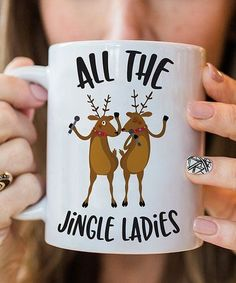 Look what I found on #zulily! 'All the Jingle Ladies' Oversize Mug #zulilyfinds